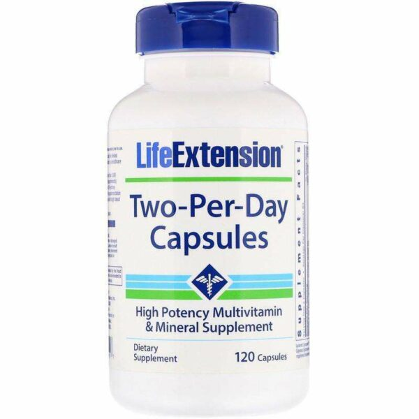 Life Extension - Two-Per-Day Capsules, -120 Capsules - AM VITAMINS