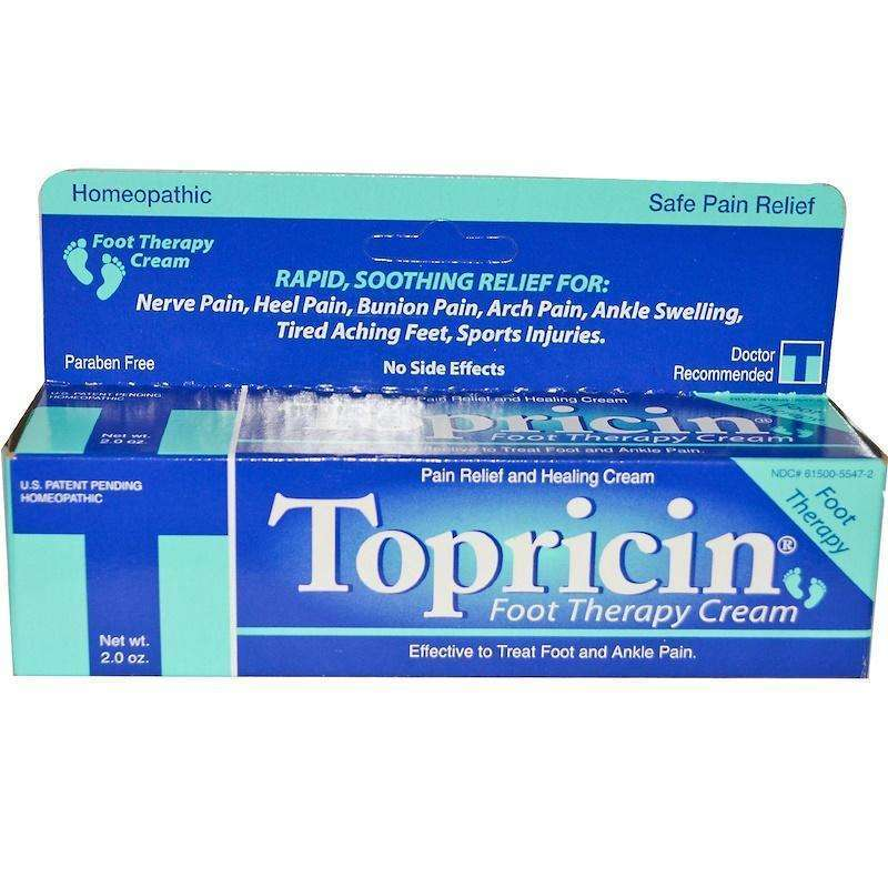 Topricin - Foot Therapy Cream, Pain Relief and Healing Cream - 2 oz - AM VITAMINS