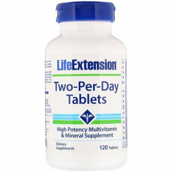 Life Extension - Two-Per-Day Tablets - 120 Tablets - AM VITAMINS