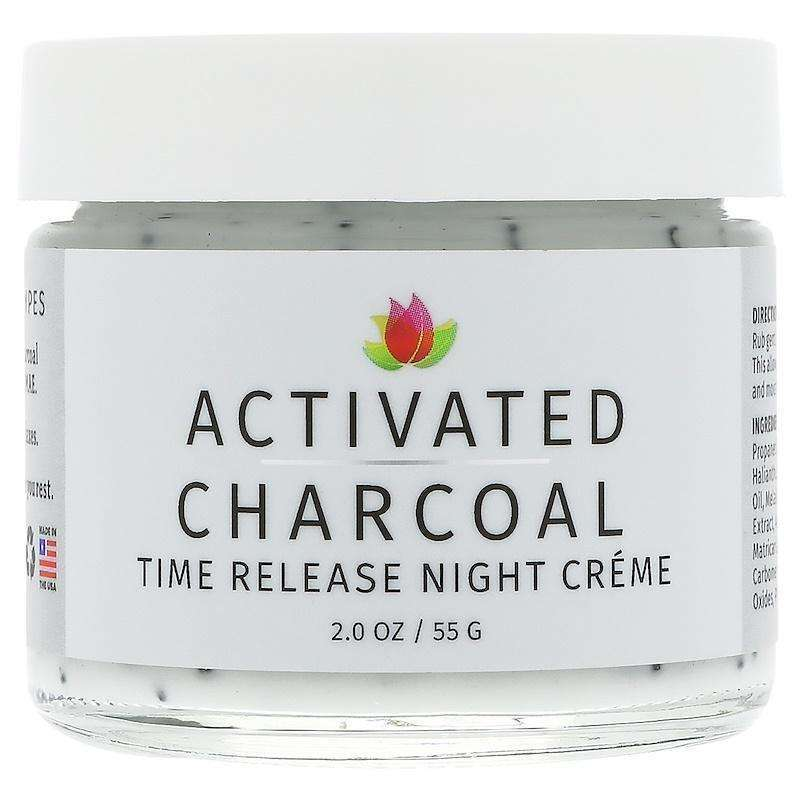 Reviva Labs - Activated Charcoal Time Release Night Crème  - 2.0 Oz (55g) - AM VITAMINS