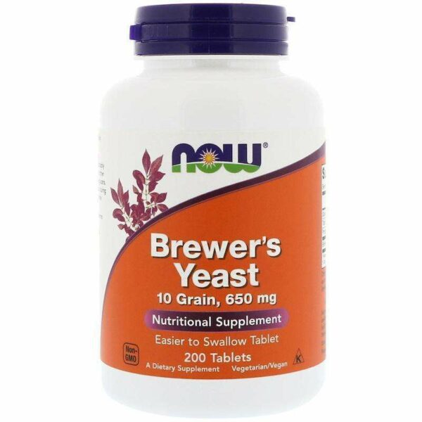 Now Foods - BREWER'S YEAST 10 GRAIN - 200 Tablets - AM VITAMINS