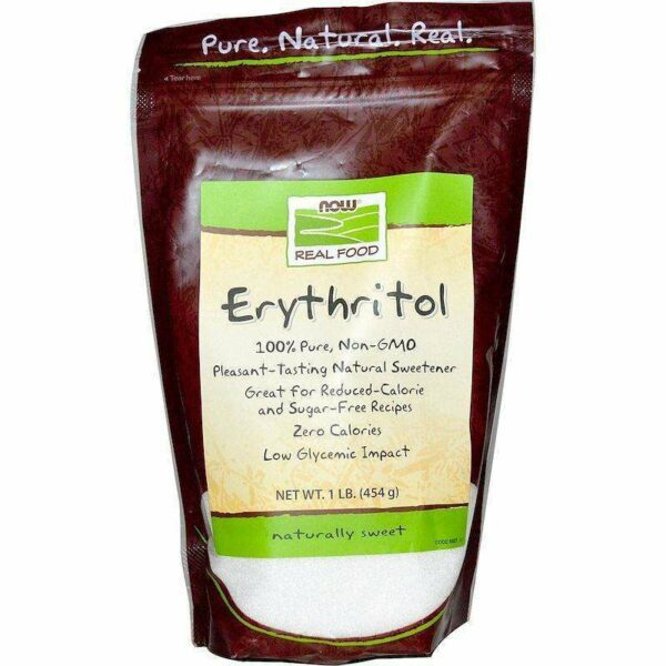 Now Foods - Real Food, Erythritol, Natural Sweetener - 1 lb (454 g) - AM VITAMINS