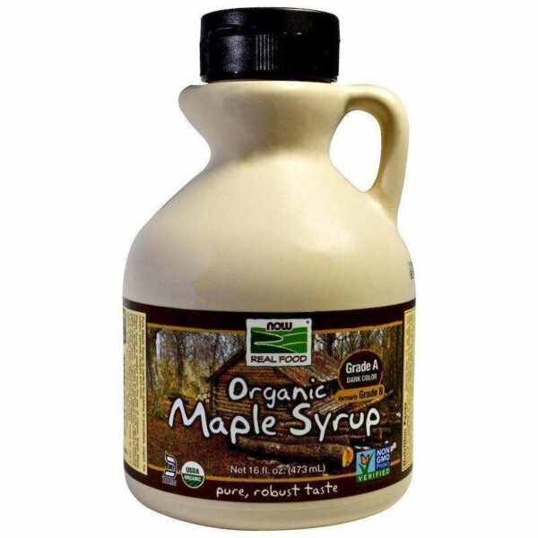 Now Foods - Real Food, Organic Maple Syrup, Grade A, Dark Color - 16 fl oz (473 ml) - AM VITAMINS