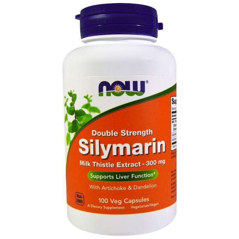 Now Foods - Silymarin, Milk Thistle Extract with Artichoke & Dandelion, Double Strength, 300 mg - 100 Veg Capsules - AM VITAMINS