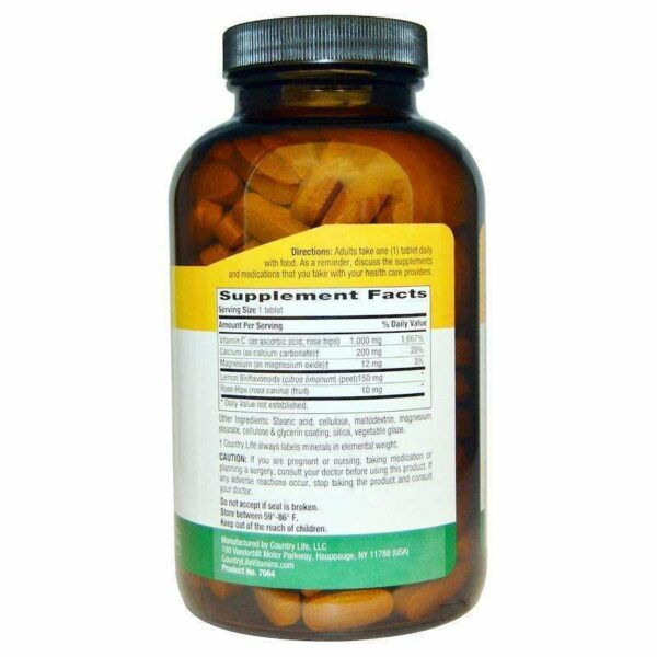 Country Life - Buffered Vitamin C, 1000 mg, 250 Tablets - AM VITAMINS