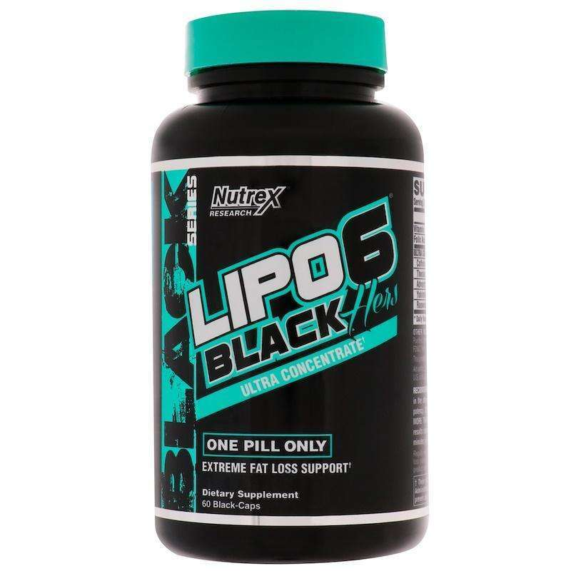Nutrex Research - Lipo-6 Black Hers, Ultra Concentrate - 60 Black-Caps - AM VITAMINS