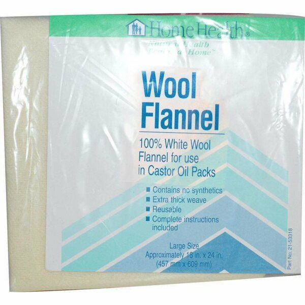 Home Health - Wool Flannel, Large - 18x24 - AM VITAMINS