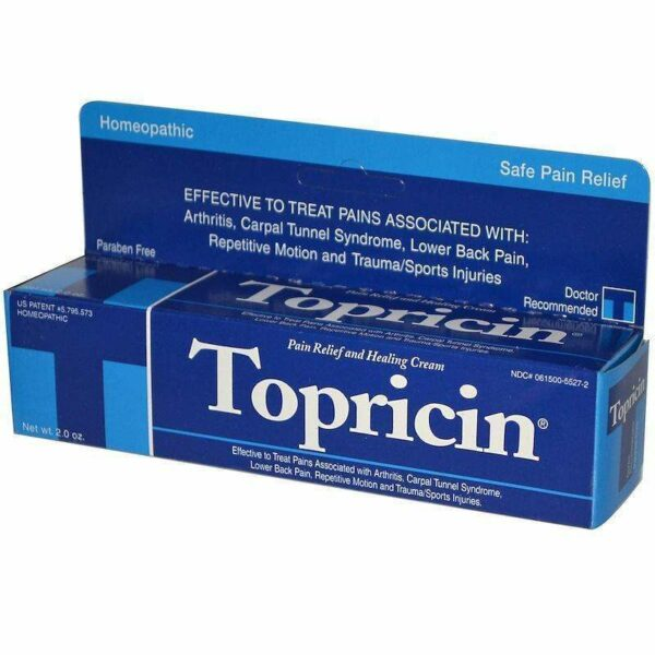 Topricin Tube - Pain Relief and Healing Cream - 2.0 oz - AM VITAMINS
