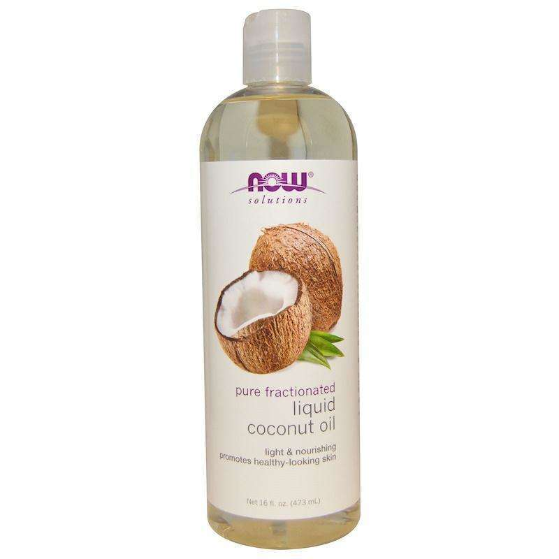 Now Foods - Solutions, Liquid Coconut Oil, Pure Fractionated - 16 fl oz (473 ml) - AM VITAMINS