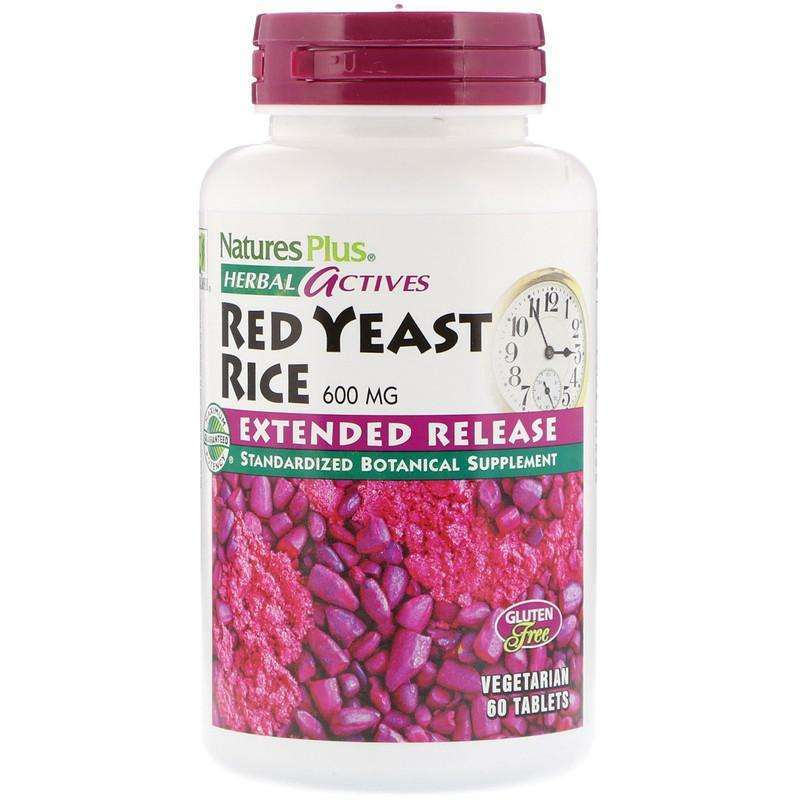 Natures Plus - Herbal Actives, Red Yeast Rice, 600 mg - 60 Mini-Tabs - AM VITAMINS