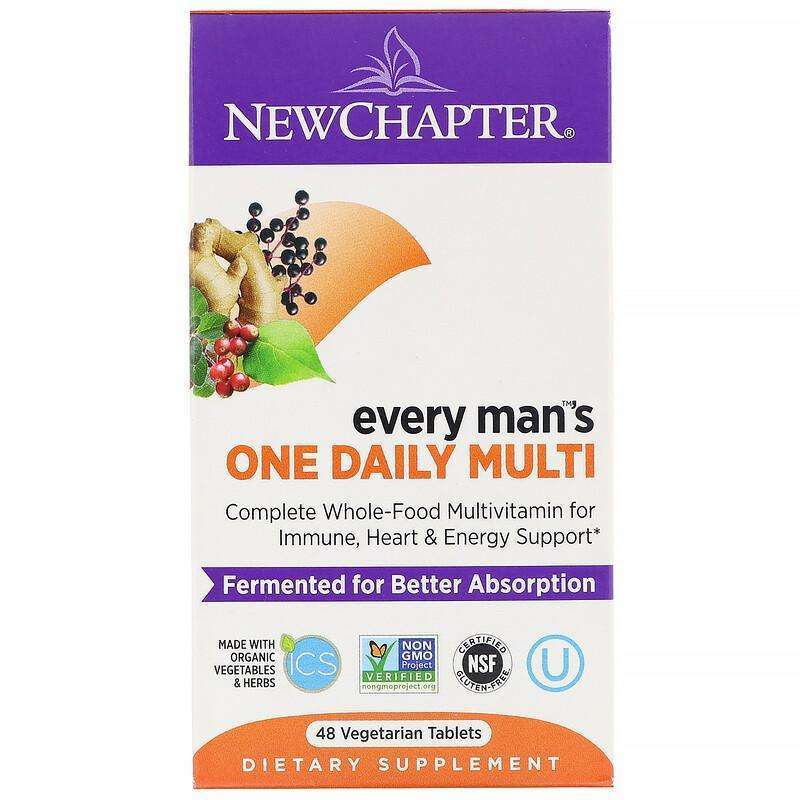 New Chapter - Every Man™'s, One Daily Multi - 48 Vegetarian Tablets - AM VITAMINS