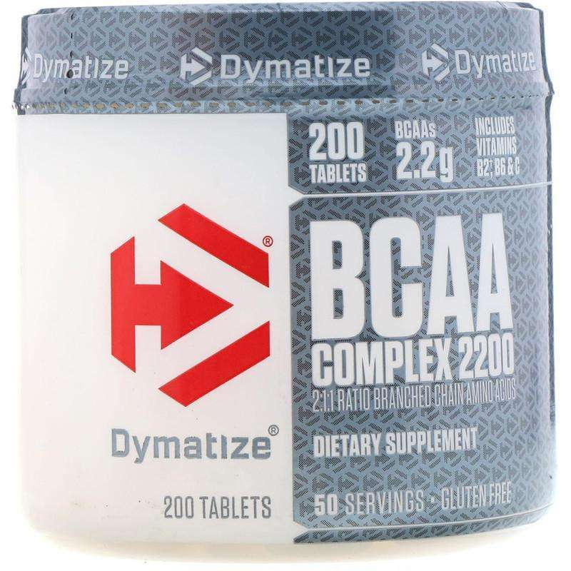 Dymatize - Nutrition, BCAA Complex 2200, Branched Chain Amino Acids - 200 Caplets - AM VITAMINS