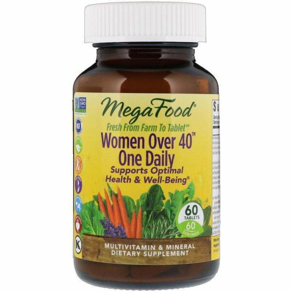 Megafood - Women Over 40™ One Daily - 60 Tablets - AM VITAMINS
