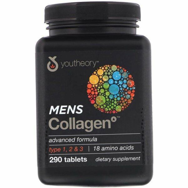 Youtheory - Men's Collagen Advanced Formula - 290 Tablets - AM VITAMINS