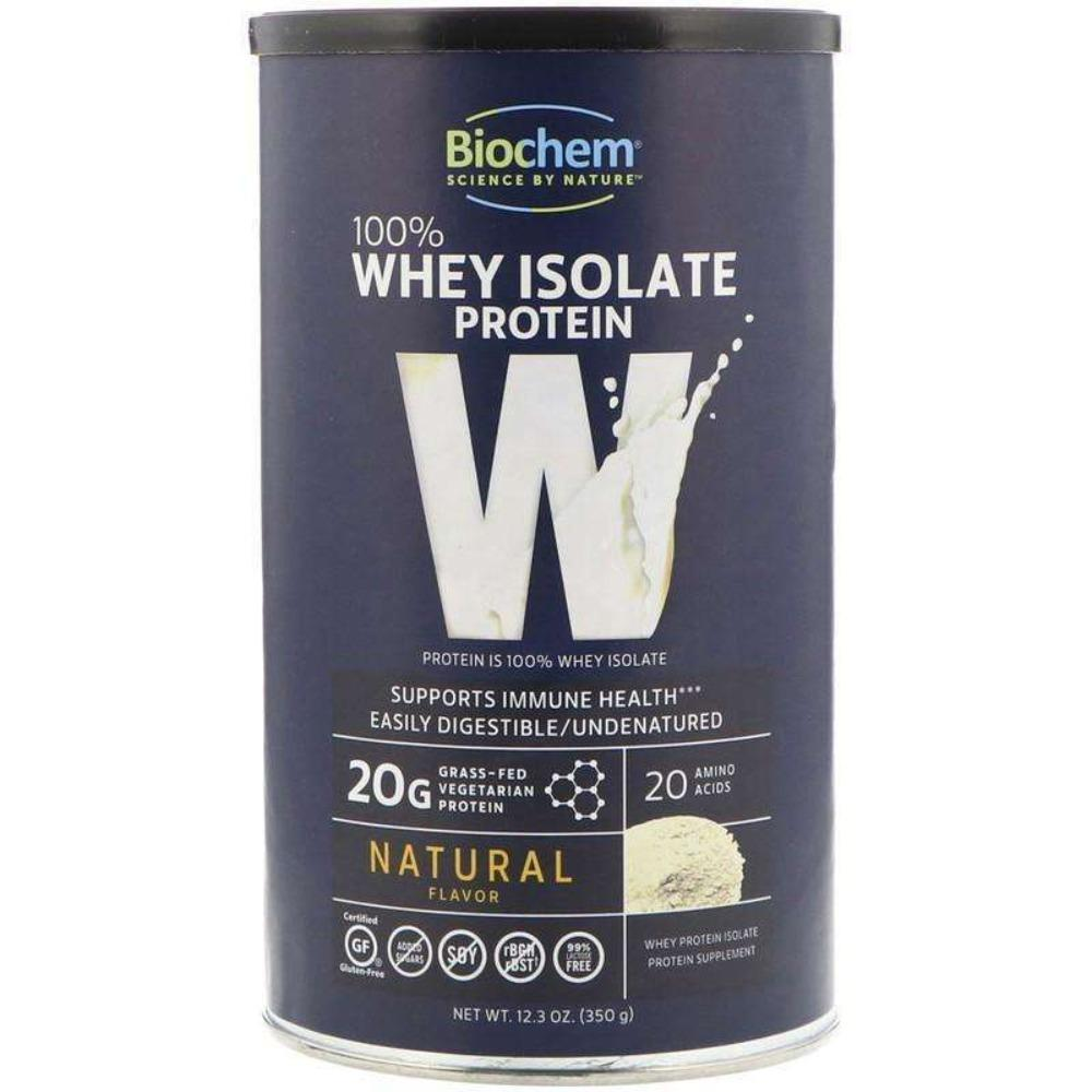 BioChem - 100% Whey Isolate Protein, Natural Flavor, 12.3 oz (350 g) - Powder - AM VITAMINS