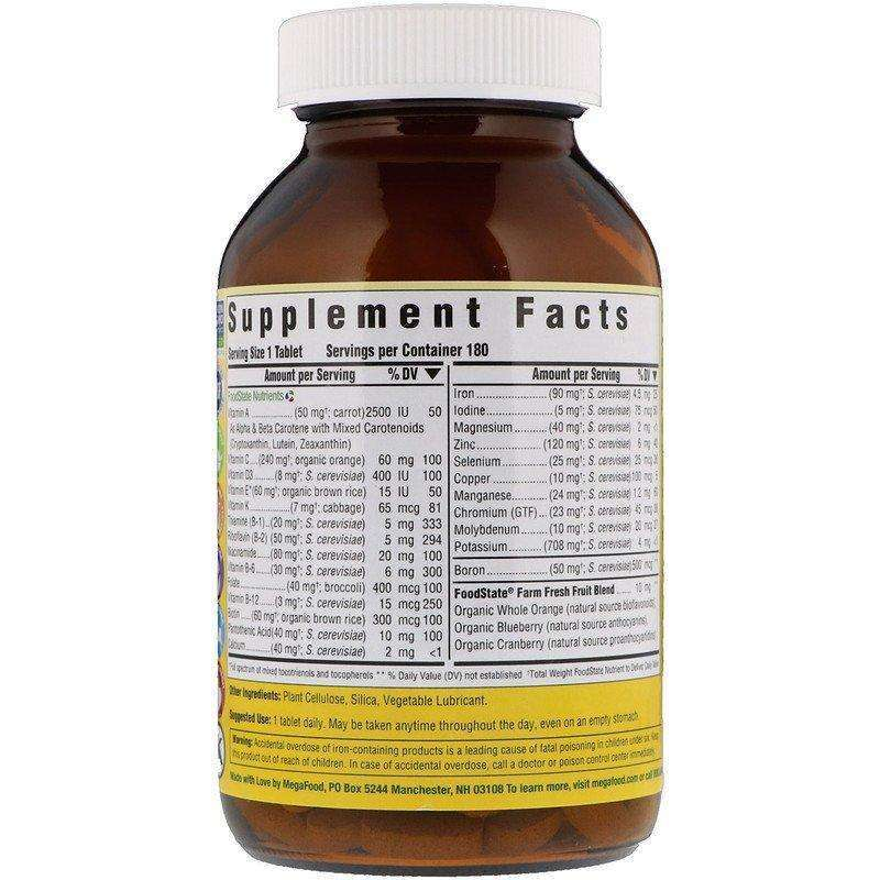 Megafood - One Daily - 180 Tablets - AM VITAMINS
