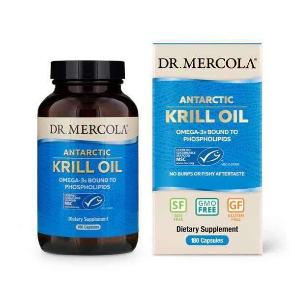 Dr Mercola - Krill Oil 3 Month Supply - 180 Capsules - AM VITAMINS