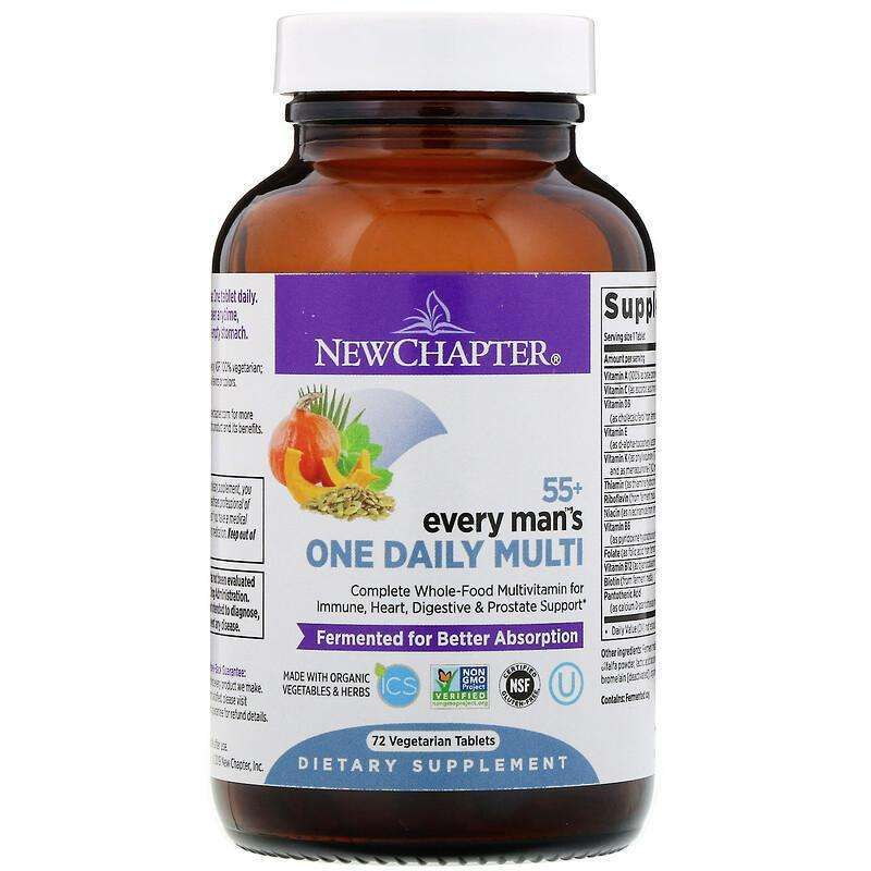 New Chapter - 55+ Every Man™'s, One Daily  - 72 Tablets - AM VITAMINS
