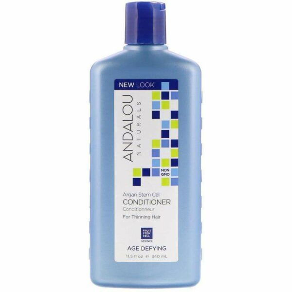 Andalou Naturals -Conditioner,Age Defying, For Thinning Hair, Argan Stem Cells, 11.5 fl oz (340 ml) - AM VITAMINS