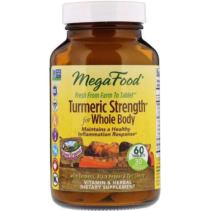Megafood - Turmeric Strength™ For Whole Body - 60 Tablets - AM VITAMINS