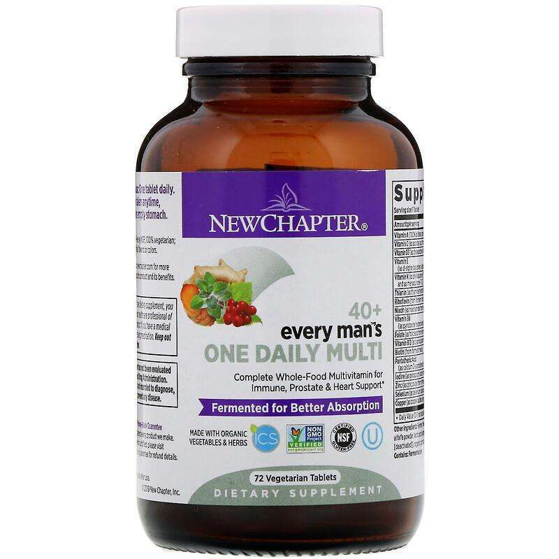 New Chapter - 40+ Every Man™'s, One Daily - 72 Tablets - AM VITAMINS