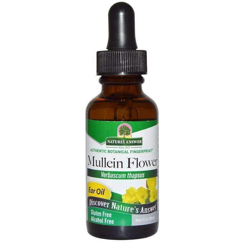 Nature's  Answers - Mullein Flower Ear Oil Topical Formula - 1  Oz - AM VITAMINS