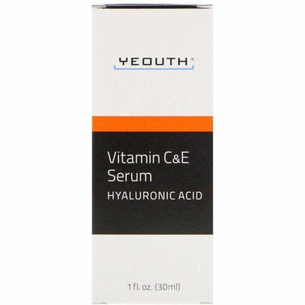 Yeouth - Vitamin C And E Serum With Hyaluronic Acid - 1oz - AM VITAMINS