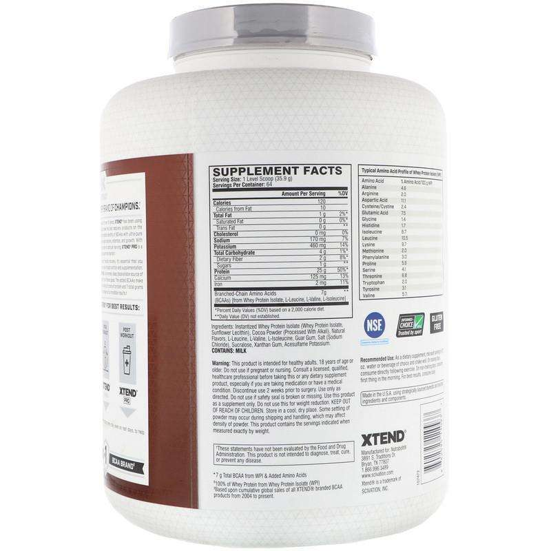 Xtend Pro Whey Isolate, Chocolate Lava Cake - 64 Servings 5 lb (2.3 g) - AM VITAMINS