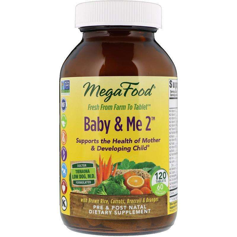Megafood - Baby & Me 2 - 120 Tablets - AM VITAMINS