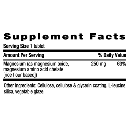 Country Life - Chelated Magnesium, 250MG - 180 Tablet - AM VITAMINS