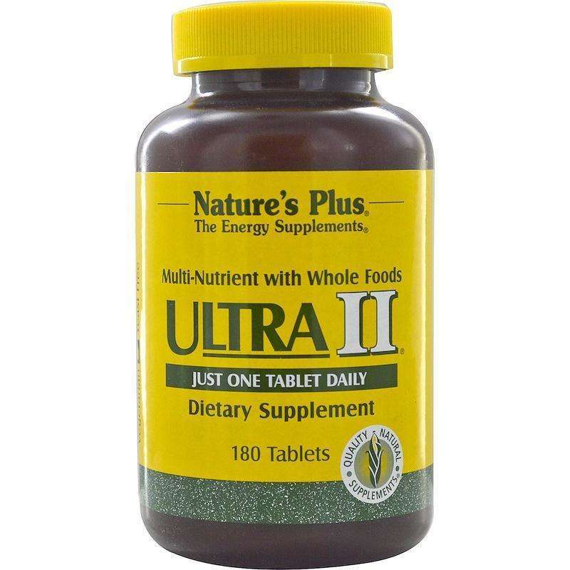 Natures Plus - Ultra II, Multi-Nutrient With Whole Foods - 180 Tablets - AM VITAMINS