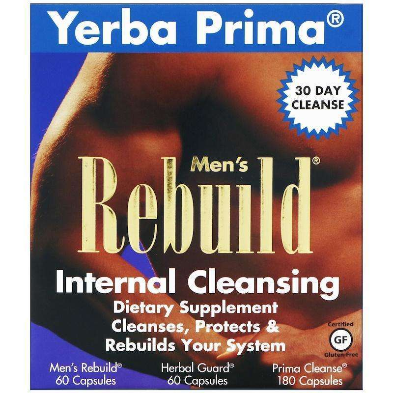 Yerba Prima - Men's Rebuild Internal Cleansing - 3 Part Program - AM VITAMINS