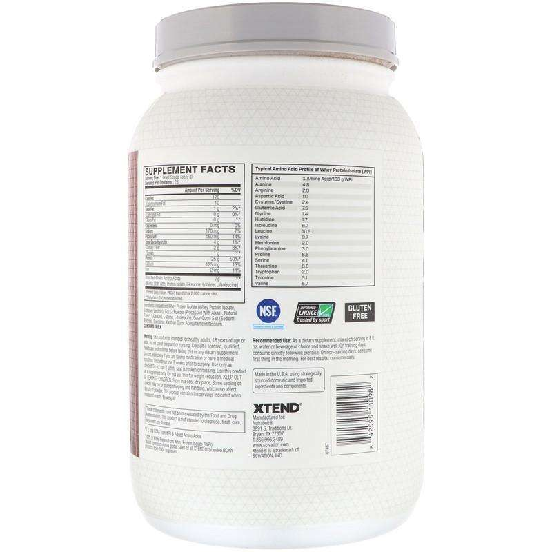 Xtend Pro Whey Isolate, Chocolate Lava Cake - 23 Servings 1.82 lb (826 g) - AM VITAMINS