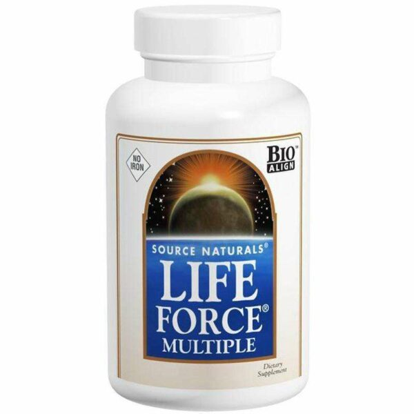 Source Naturals - Life Force® Multiple, No Iron - 60 Tablet - AM VITAMINS