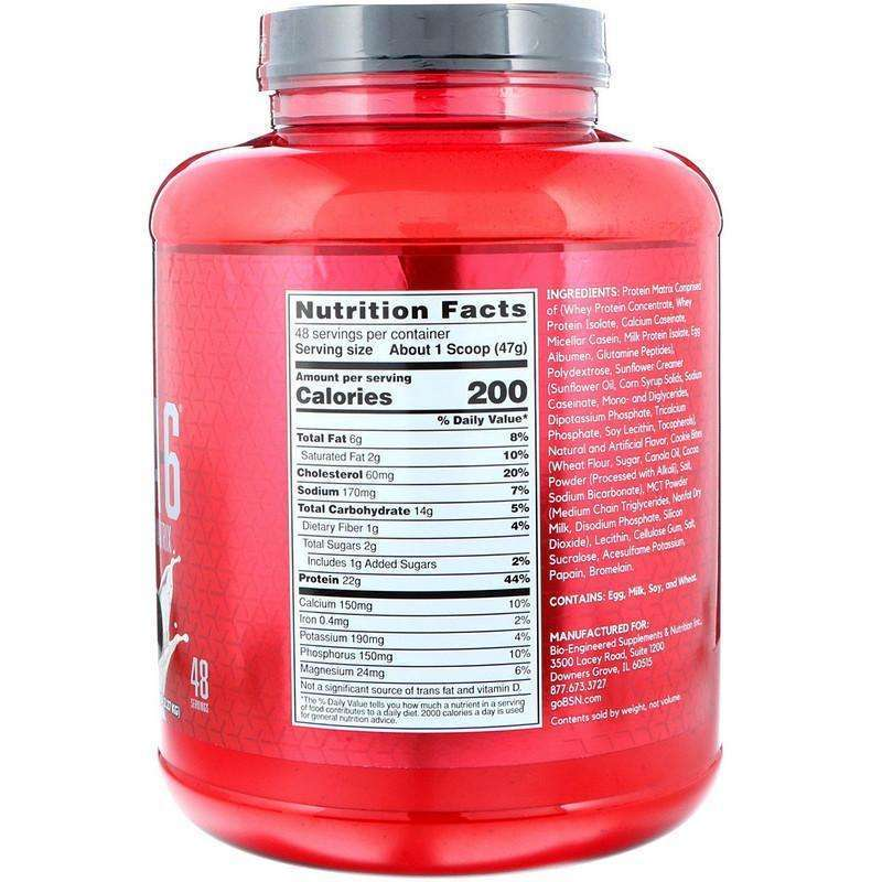 BSN - Syntha-6, Protein Powder Drink Mix, Cookies and Cream - 5.0 lbs (2.27 kg) - AM VITAMINS