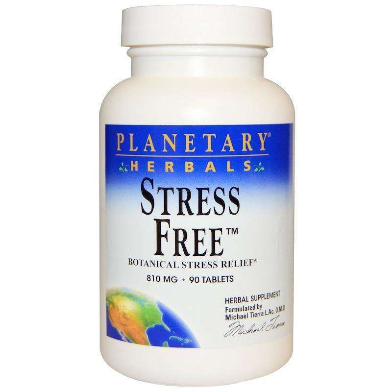 Planetary Herbals - Stress Free™  Botanical Stress Relief 810 Mg - 90 Tablet - AM VITAMINS