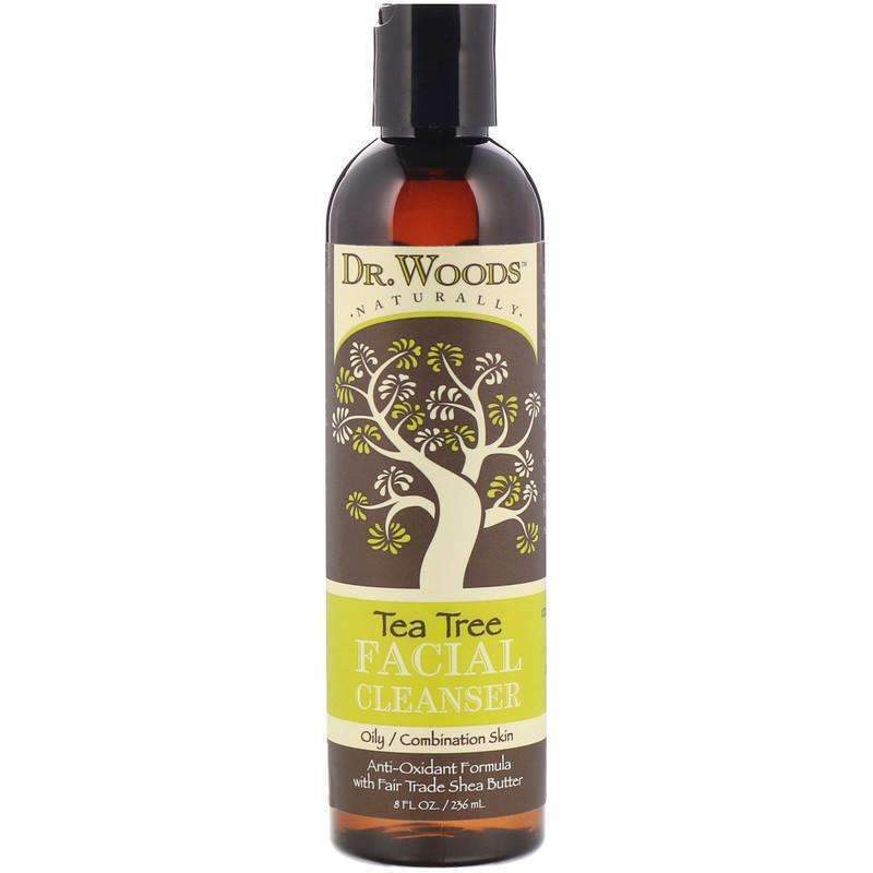 Dr Woods - Tea Tree Facial Cleanser With Shea Butter - 8 Ounce - AM VITAMINS