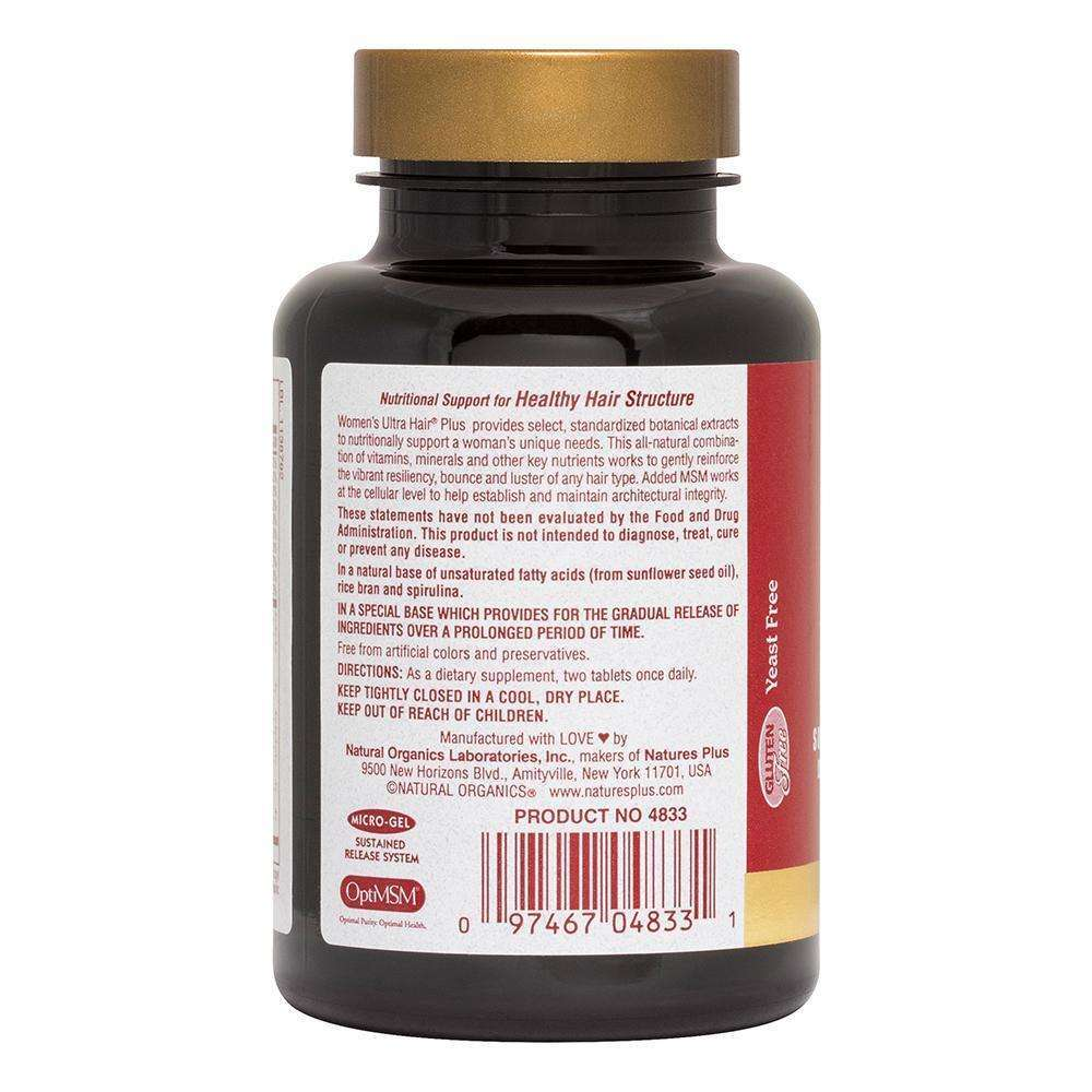 Natures Plus - ULTRA HAIR PLUS FOR WOMEN S/R - 60 Tabs - AM VITAMINS