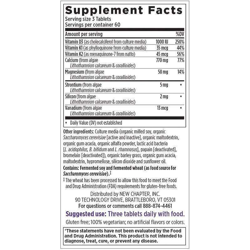New Chapter - Bone Strength Take Care™ - 180 Tablets - AM VITAMINS