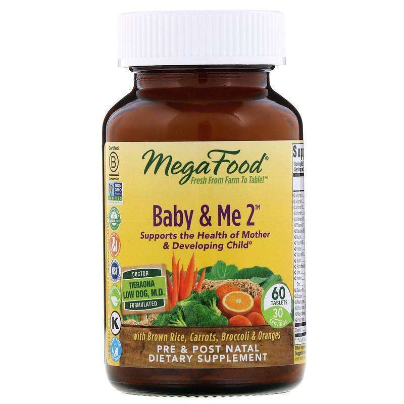 Megafood - Baby & Me 2 - 60 Tablets - AM VITAMINS