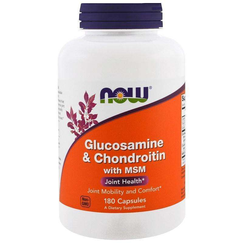 Now Foods - Glucosamine & Chondroitin with MSM - 180 Capsules - AM VITAMINS