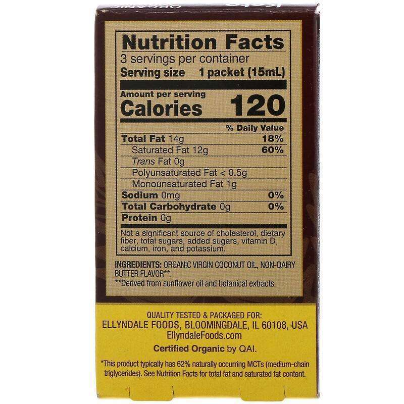 Now Foods - Ellyndale Naturals, Keto Coconut Infusions, Non-Dairy Butter Flavor, 3 Pack - 0.5 fl oz (15 ml) Each - AM VITAMINS