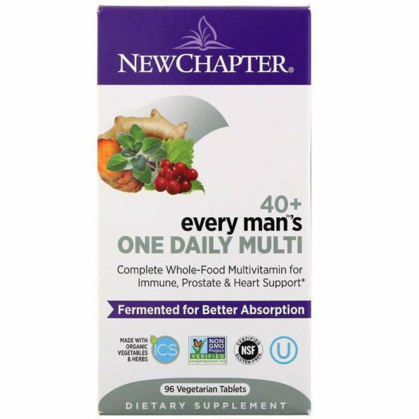 New Chapter - 40+ Every Man™'s, One Daily  - 96 Tablets - AM VITAMINS