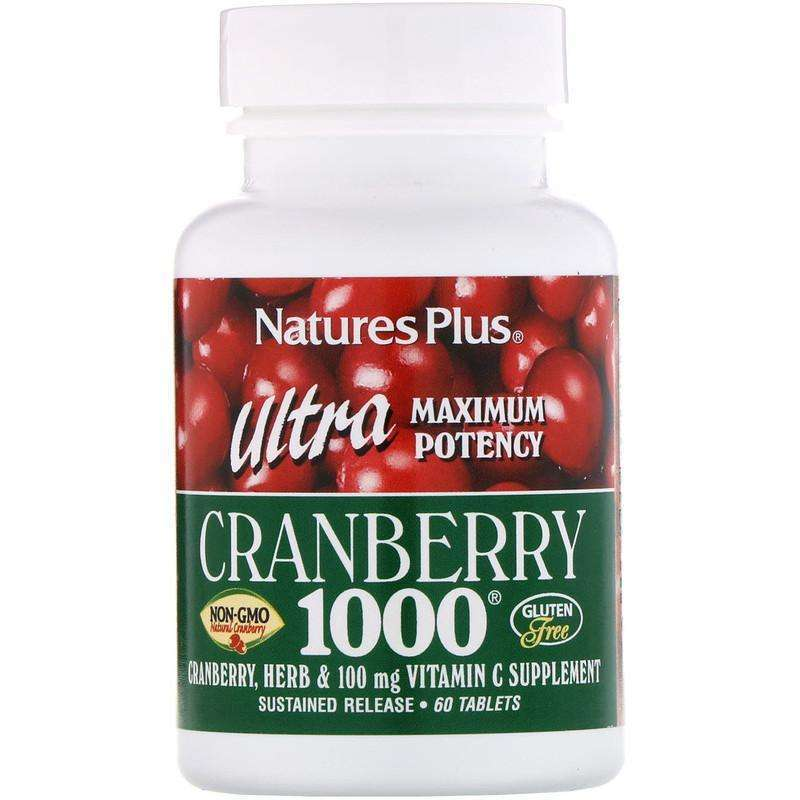 Natures Plus - ULTRA CRANBERRY 1,000 MG S/R - 60 Tabs - AM VITAMINS