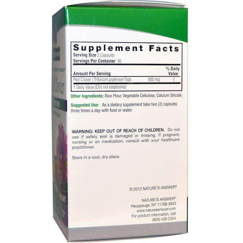 Nature's  Answers - Red Clover Tops - 90  V-Cap - AM VITAMINS