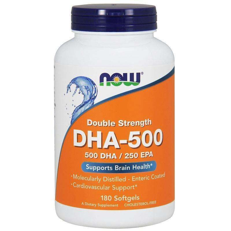 Now Foods - DHA-500/EPA-250, Double Strength - 180 Softgels - AM VITAMINS