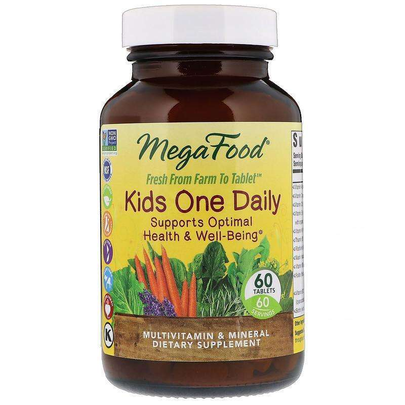 MegaFood - Kids One Daily - 60 Tablets - AM VITAMINS