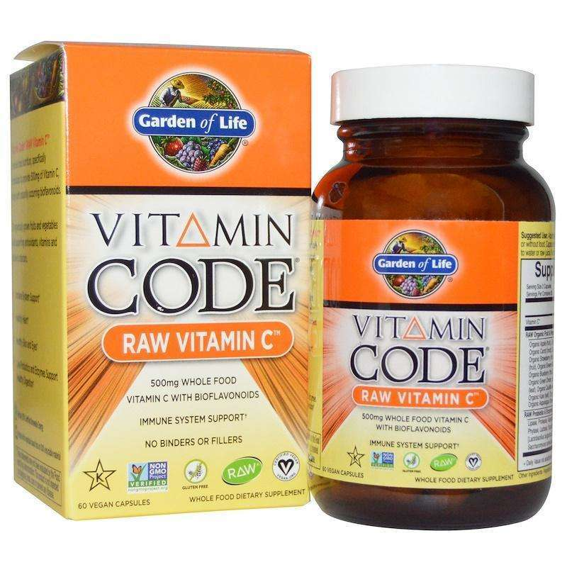 Garden Of Life - Vitamin Code, Raw Vitamin C, 60 Vegan Capsules - AM VITAMINS