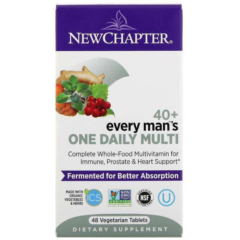 New Chapter - 40+ Every Man™'s, One Daily  - 48 Tablets - AM VITAMINS