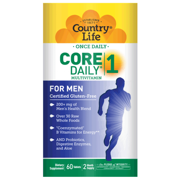 Country Life - Core Daily-1 Multivitamins, Men - 60 Tablets - AM VITAMINS